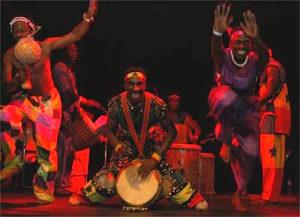 Djembe AGOGO Afrikaanse trommelaars in rood