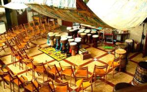 Stilte voor de djembe workshop storm