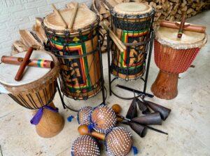 Afrikaanse percussie instrumenten
